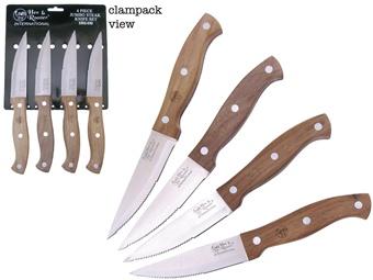 "9"" H&R 4pc Steak Knife Set"