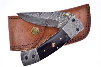 "5"" Buffalo Horn Damscs Blade / Bolsters"