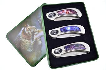 Wolf Tactical Folder Trio w/ Signature Tin