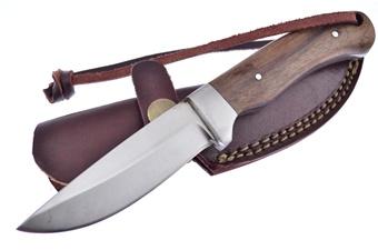"7"" Red Deer Wood Hunter w/ Sheath"