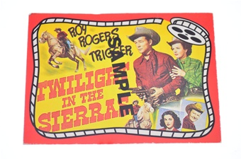 Roy Rogers Sample Card
