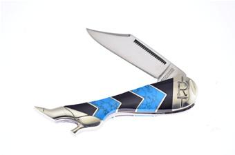"""3.1"""" Turquoise Peak Leg Knife"""