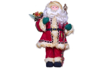 """20"""" Hen + Rooster Santa Claus"""