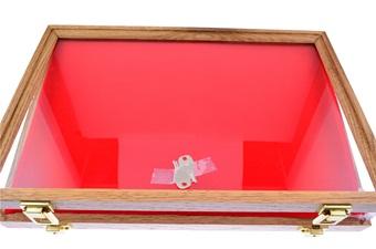 12x18 Oak Glass Display