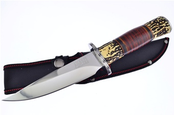 "11"" Stagolon/Leather Combo Hunter w/Sheath"