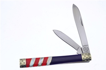 "3.75"" Red/White/Blue Doctor's Knife"