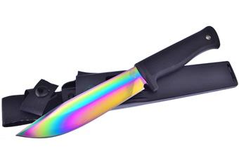 """11"""" Black Composite Hunter w/Rainbow Titanium Blade"""