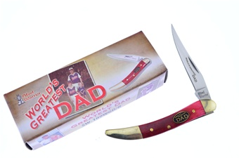 "3"" Red Smoothbone World's Greatest Dad Small Toothpick"