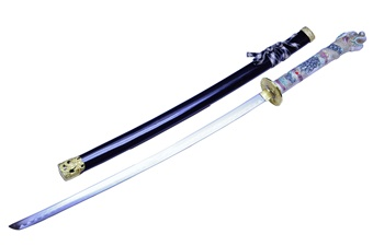 "42.5"" Dragon Katana w/Black Wood Scabbard"