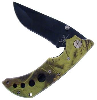 """4.5"""" Composite Green Camo Tactical Folder"""