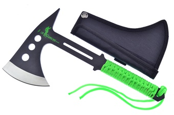 "10"" Green Cord-Wrapped Axe"