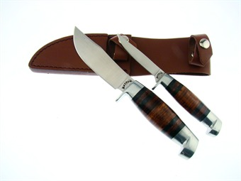 "6.5""/8.5"" Stacked Leather Hunter Set"