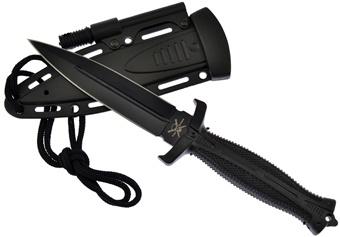 "9.5"" Black Boot Knife w/Sheath"