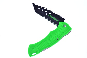 "5"" Green Abs Tactical Folder w/Clip"