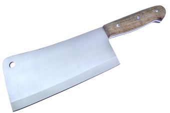 "15.375"" Walnut Wood Cleaver"