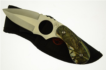 "6"" Camo Composite Skinner w/Nylon Sheath"