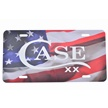 50128 - Case License Plate American Flag
