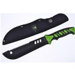 "CCN-59626 • 12"" Green/Black Double Injection Bowie w/Sheath (x1)"