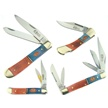 CCN-40574 WARRIOR SHADES SHOWCASE (4PCS) [Double Warrior • Pocket Knives]