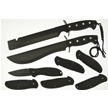 CCN-46832 PITCH BLACK (8PCS) [Assorted • Fixed Blades & Hunters]
