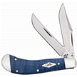 CCN-47287 CASE SADLHRN BLUE CURLY MAPLE(1P [Case • Pocket Knives • Premium Knives]