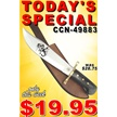 CCN-49883 TODAY'S SPECIAL (1PC) [Chipaway Cutlery • Fixed Blades & Hunters]