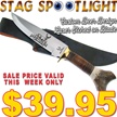 CCN-49915 STAG SPOTLIGHT (1PC) [Whitetail Cutlery • Fixed Blades & Hunters]