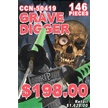 CCN-50419 GRAVE DIGGERS 2015 (146PCS) [Assorted • Swords, Canes & Armor]