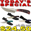 CCN-51604 TODAY'S SPECIAL (4PCS) [Whitetail Cutlery • Fixed Blades & Hunters • Skinning Knives]
