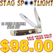 CCN-52055 STAG SPOTLIGHT (10PC) [Assorted • Pocket Knives • Premium Knives]