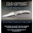CCN-52682 THE LEGEND STAINLESS (1PC) [Frost Cutlery • Pocket Knives]
