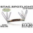 CCN-53207 STAG SPOTLIGHT (1PC) [Whitetail Cutlery • Pocket Knives]