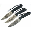 CCN-53258 SHADOW SERIES TRIO (3PCS) [Frost Cutlery • Fixed Blades & Hunters]