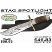CCN-53554 STAG SPOTLIGHT (1PC) [Whitetail Cutlery • Fixed Blades & Hunters]