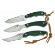 CCN-53970 KENTUCKY GREENS (3PCS) [Whitetail Cutlery • Fixed Blades & Hunters]