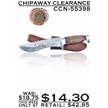 CCN-55398 CHIPAWAY CLEARANCE (1PC) [Chipaway Cutlery • Fixed Blades & Hunters]