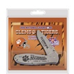 CCN-55622 CLEMSON FROST STAINLESS FOLDER(1 [Frost Cutlery • Collectors' Items • Commemorative Sets]