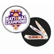 CCN-55801 CLEMSON TIGER NATIONAL CHAMPS (1 [Frost Cutlery • Collectors' Items • Licensed Properties]