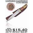 CCN-56058 CHIPAWAY CLEARANCE (1PC) [Chipaway Cutlery • Fixed Blades & Hunters]