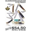 CCN-56251 OX HORN RIVER COLLECTION (5PC) [Assorted • Pocket Knives]