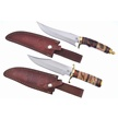 CCN-56268 CHIPAWAY BROWN BEAR DUO (2PC) [Chipaway Cutlery • Fixed Blades & Hunters • Bowies]