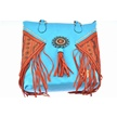 CCN-56469 TURQUOISE TASSLE PURSE (1PC) [Leda's Fashion • Accessories]