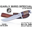 CCN-56555 EARLY BIRD SPECIAL (1PC) [Crowing Rooster • Fixed Blades & Hunters • Bowies]