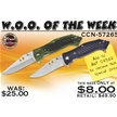 CCN-57265 WOO OF THE WEEK (2PCS) [Frost Cutlery • Tacticals & Folders]