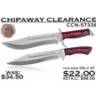 CCN-57336 CHIPAWAY CLEARANCE (2PCS) [Chipaway Cutlery • Fixed Blades & Hunters • Bowies]