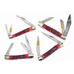 CCN-57618 DARK RED WALNUT JIG COLLECTION(4 [Steel Warrior • Pocket Knives]