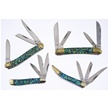 CCN-57794 STONEWORKS ABALONE COLLECTION(4P [Cherokee Stoneworks • Pocket Knives]