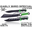 CCN-57854 EARLY BIRD SPECIAL (3PCS) [Tac Assault • Fixed Blades & Hunters • Bowies]