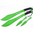 CCN-58062 TIGER BIO MACHETTE COMBO (4PCS) [Tiger USA • Fixed Blades & Hunters • Machete]