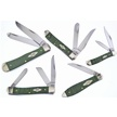 CCN-58183 CSE GREEN CURLY MAPLE COLL (5PC) [Case • Pocket Knives • Premium Knives]